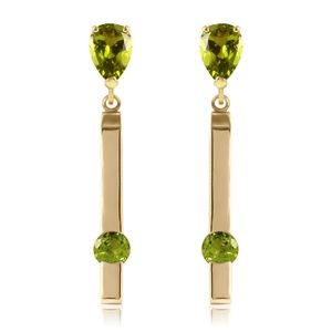 GOLD CHANDELIER EARRING WITH PERIDOTS